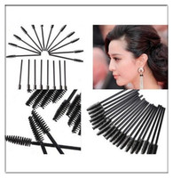 Wholesale 100pcs Disposable Mascara Wands Applicator Tinting Eyelash Brushes For Eyelash Extension