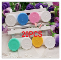 Wholesale 20XTravel Small Plastic Storage Container Contact Lens Soaking Cases Box L R Marked