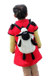 Wholesale Hot sale Super cute Sheep about CM plush backpack baby schoolbag Travelbag sheep gifts