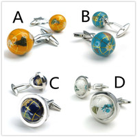 Silver best mens accessories - Cufflinks rotating globe exquisite cufflinks alloy nail sleeve accessories sleeve button color choose fashion jewelry for mens Best Gift