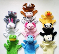 Teddy Bear bear groups - Freeshipping NEW Big Hand Puppets Baby Plush Toy Animal Talking Props animal group mixed Kids ChristmasGift
