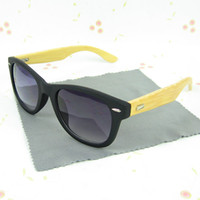 Wholesale Hot Sell Wood Sunglasses Designer Natrual Bamboo Sunglass Eyewear Glasses Style Hand Made Wooden Temples