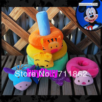 Multicolor farm animals toys - four small farm animal layers ring paper baby toys kid education toys