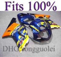 telefonica - INJECTION GSXR600 GSXR750 Telefonica yellow blue Fairing for Suzuki GSXR GSXR750 GSX R K1 AA