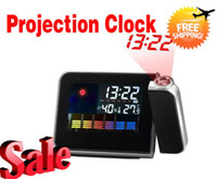 2013 innovative items designs home decor digital lcd screen led projector alarm clock weather station dropshipping