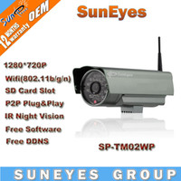 Wholesale SunEyes P Megapixel HD IP Camera Wireless Outdoor P2P Plug and Play IR CUT SD Card Slot SP TM02WP