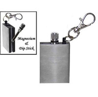 Wholesale Survival Camping Emergency Fire Starter Flint Match Lighter Key Chain Square DROP SHIPPING
