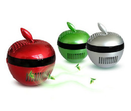 Wholesale Piece New USB Apple Air Purifier Air Cleaner Ionizer PC Air Fresheners Anionic Air Purifier Laptops USB Oxygen