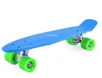 Wholesale Blank Vinyl Plastic Cruiser Skateboard Complete freewind mm Style Board colors