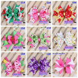 New 50pc*10Color Baby Kids Christmas Hair Clips,11.5cm Fashion Baby Girl Dovetail Style Multicolor Bow Hair Clip,Children Ribbon Accessories