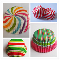 Wholesale 400 cupcake liners cupcake container decorative cupcake boxes mixed patterns for party favors wedding