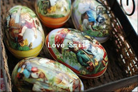 Wholesale Freeshipping style Rabbit series Painted eggshell Tin Storage box Classic Collection mini jewelry Box Retro Storage Case