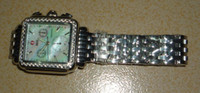 Wholesale Diamond Signature Deco Dial wristwatch michele deco watch analog Chronograph Calendar Silvery Stainless Steel