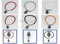 Wholesale Hamsa Hand of Fatima Evil Eye Religious Bracelet Choose Wristband Design