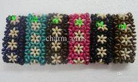 Wholesale New Arrival Colors Nature Wood Beads Bracelet Wooden Elasticity Bracelet Fashion Jewellery
