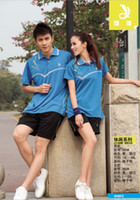 Wholesale 2013 badminton casual series set lovers fashion casual wear