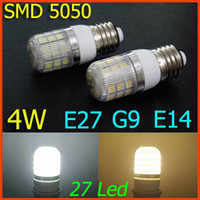 Wholesale G9 E27 E14 W leds SMD LED Corn Light Bulb LED Lamp Warm White Or White lighting V V degree corn bulbs