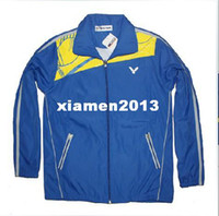 Wholesale New Games VICTOR clothes Badminton coat Tennis jacket