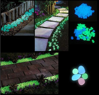 Wholesale Glow in The Dark Pebbles Stones Green Luminous Fluorescent Garden TV243