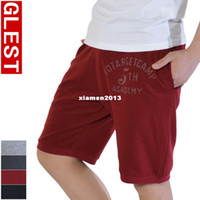Wholesale 2013 New Glest sports shorts male thin solid color shorts cotton badminton table tennis ball running shorts beach pants