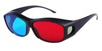 Wholesale Red Blue D Dimension Glasses for D DVD Movie Game plastic frame shipping free