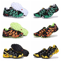Wholesale Newest Hiking Sneakers Salomon Speedcross CS Quick drying mesh upper climbing shoes accpet max orders