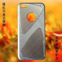 50pcs DHL iPhone 5C del teléfono celular casos de proceso del metal del trefilado UV brillante revestimiento de PC Parte 1: 1 Casos para el iPhone Cases 5C