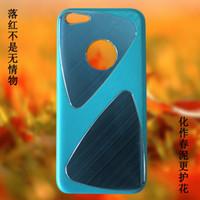 500pcs DHL iPhone 5C del teléfono celular casos de proceso del metal del trefilado UV brillante revestimiento de PC Parte 1: 1 Casos para el iPhone Cases 5C