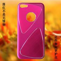 300pcs DHL iPhone 5C del teléfono celular casos de proceso del metal del trefilado UV brillante revestimiento de PC Parte 1: 1 Casos para el iPhone Cases 5C