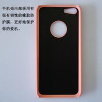 10pcs CPAM iPhone 5C del teléfono celular casos de proceso del metal del trefilado UV brillante revestimiento de PC Parte 1: 1 Casos para el iPhone Cases 5C