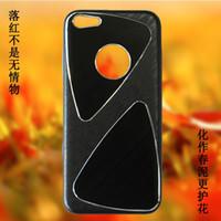 200pcs DHL iPhone 5C del teléfono celular casos de proceso del metal del trefilado UV brillante revestimiento de PC Parte 1: 1 Casos para el iPhone Cases 5C