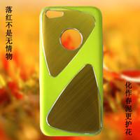 100pcs DHL iPhone 5C del teléfono celular casos de proceso del metal del trefilado UV brillante revestimiento de PC Parte 1: 1 Casos para el iPhone Cases 5C