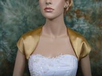 Wholesale Cheap Taffeta Wedding Bridal Bolero Jackets Simple Style Bridal Accessories Jacket Wraps Cap Sleeve