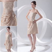 Sheath/Column Sexy Appliqué Sexy Short Knee Length Champagne Beaded Appliques Cheap Prom Party Cocktail Dresses HE2042