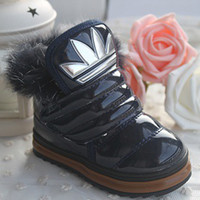 Wholesale 2013 winter shoes fashion cotton boots children paint low velvet warm shoes