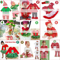 Boy and Girl 1-6Y New Year Baby's Christmas Apparel(Romper 2PCS suits) Children's Special Occasions Wedding & Events 9designs Girls birthday dresses Baby Kids Clothing