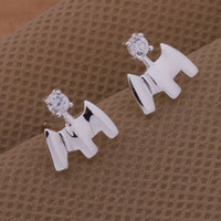 Wholesale Hot sale Charming New Design Dove Silver Plated Jewelry Earrings AE331
