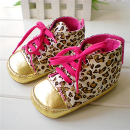 Wholesale Baby girls shoes Leopard Toddler shoes soft sole baby Walkers Wear Comfortable kids Casual Shoes