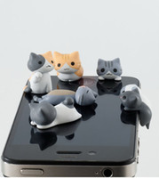 New 3. 5mm Cheese Cat Ears Plug Stopper Cap for iphone HTC An...