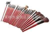 Professional Makeup Set Goat Hair Bamboo 30 brushes 28 Chinese red envelopes black silk animal hair factory direct shelf Special
