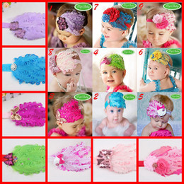 Wholesale Baby feather Headbands Baby girl feather Hair Ornaments Shining headwear Kids accessories HB49