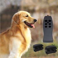 Wholesale Brand New shock vibra remote control dog training collar black color drop shipping DC5