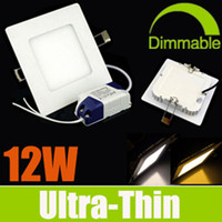 Wholesale 20 OFF Square W Ultrathin LED Panel Lights SMD2835 AC110 V Recessed Lamp Ceiling Lights Cool Warm Nature White K CE amp ROHS CSA