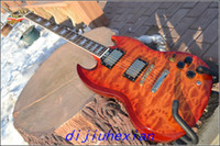 Solid Body 6 Strings Mahogany 2013 new Wholesale Custom SG 400 Red Clouds Grain Electric Guitar EMS Free Shipping
