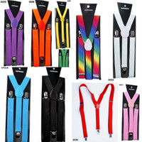 Wholesale Brand New DCE Adjustable Unisex Pants Y back Cool Braces Suspenders Elastic Belt Ten Colours For Choose