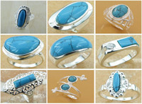 Wholesale cheap price pretty new Silver Turquoise Ring Top Quality fashion silver Jewelry
