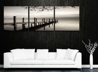 Cheap More Panel Kitchen Decoration Black Best Oil Painting Abstract Flower