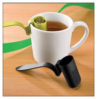 Wholesale Home Edge Clip On Loose Tea Strainer Teaspoon Filter Colander Steeper Infuser