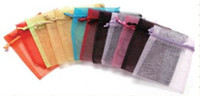 Wholesale Mix color paillette organza bag jewelry pouches packing bag candy bag7 cm
