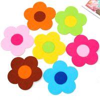 Wholesale Dia cm Big Color Flower Felt Cloth Cup Pad Creative Coffee Cup Coaster Household Supplies SH064